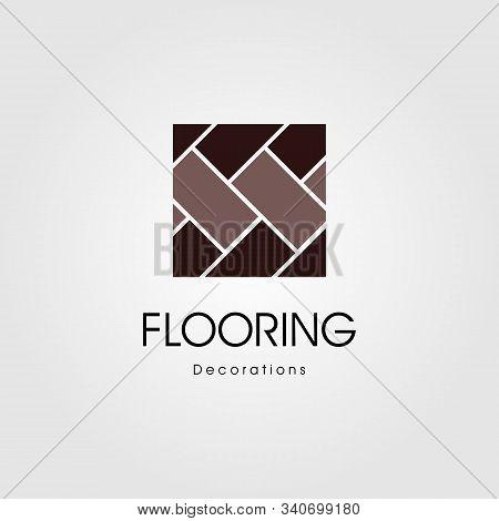 Minimalist Parquet Flooring Vinyl Hardwood Granite Tile Logo Illustration