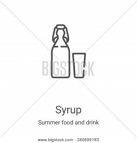 syrup icon isolated on white background from summer food and drink collection. syrup icon trendy and
