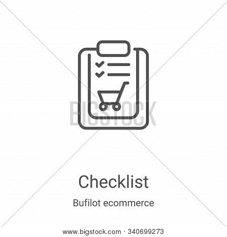 checklist icon isolated on white background from bufilot ecommerce collection. checklist icon trendy