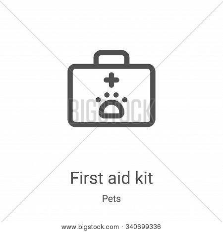 first aid kit icon isolated on white background from pets collection. first aid kit icon trendy and