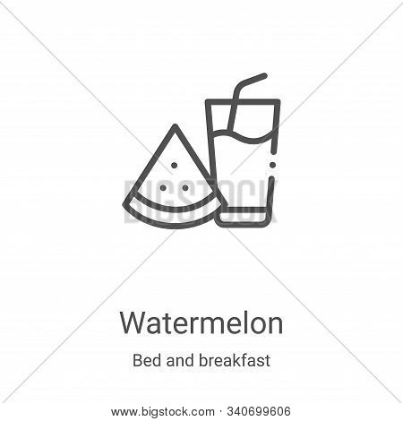 watermelon icon isolated on white background from bed and breakfast collection. watermelon icon tren