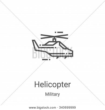 helicopter icon isolated on white background from military collection. helicopter icon trendy and mo