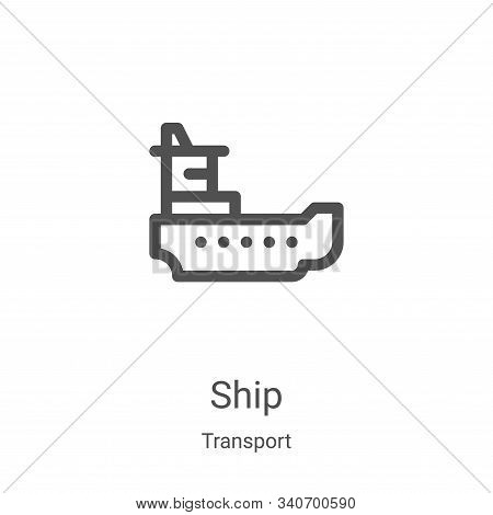 ship icon isolated on white background from transport collection. ship icon trendy and modern ship s