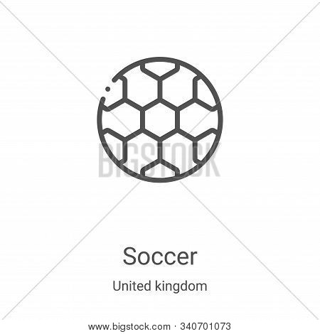 soccer icon isolated on white background from united kingdom collection. soccer icon trendy and mode