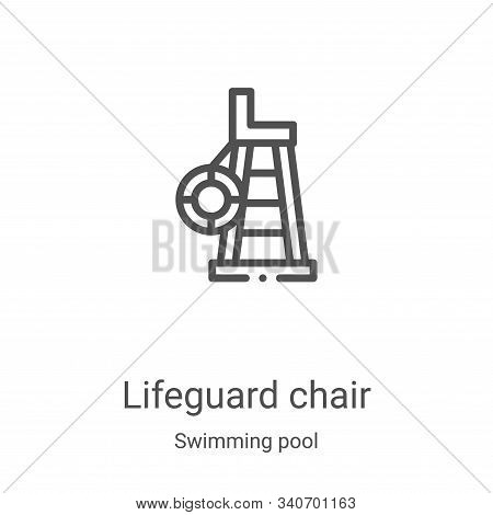lifeguard chair icon isolated on white background from swimming pool collection. lifeguard chair ico