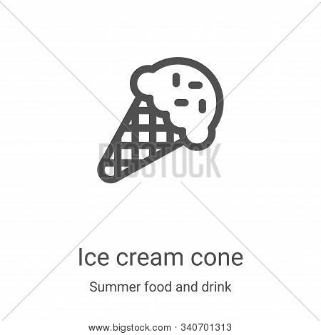 ice cream cone icon isolated on white background from summer food and drink collection. ice cream co