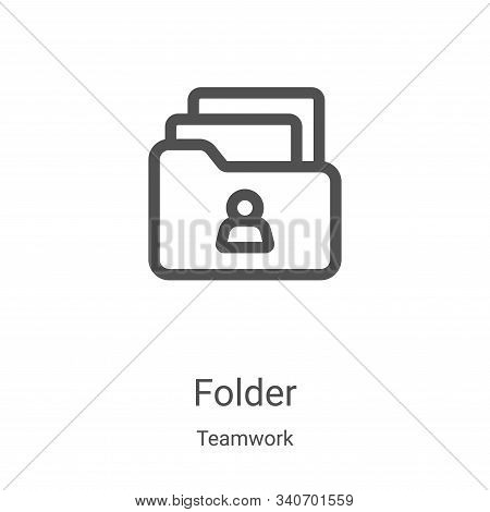 folder icon isolated on white background from teamwork collection. folder icon trendy and modern fol