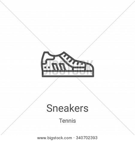sneakers icon isolated on white background from tennis collection. sneakers icon trendy and modern s