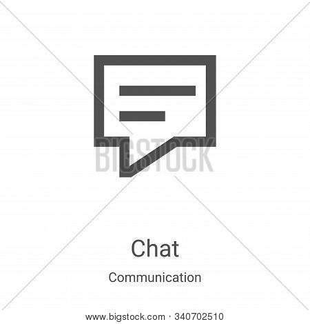 chat icon isolated on white background from communication collection. chat icon trendy and modern ch