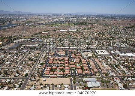 Three City Aerial View