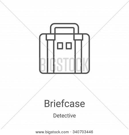 briefcase icon isolated on white background from detective collection. briefcase icon trendy and mod