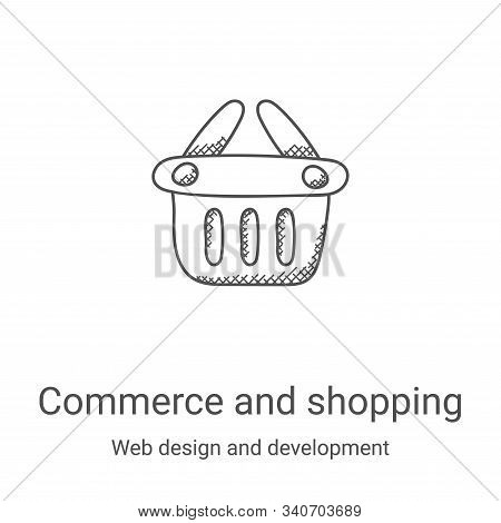 commerce and shopping icon isolated on white background from web design and development collection.