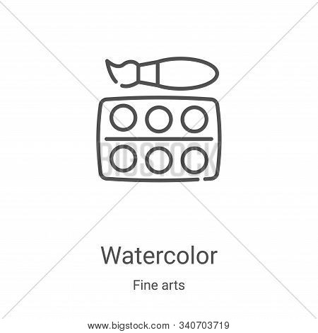 Watercolor icon isolated on white background from fine arts collection. Watercolor icon trendy and m