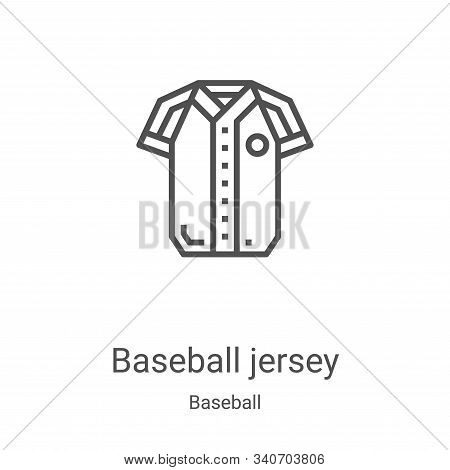 baseball jersey icon isolated on white background from baseball collection. baseball jersey icon tre