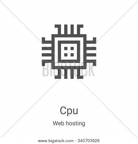 cpu icon isolated on white background from web hosting collection. cpu icon trendy and modern cpu sy