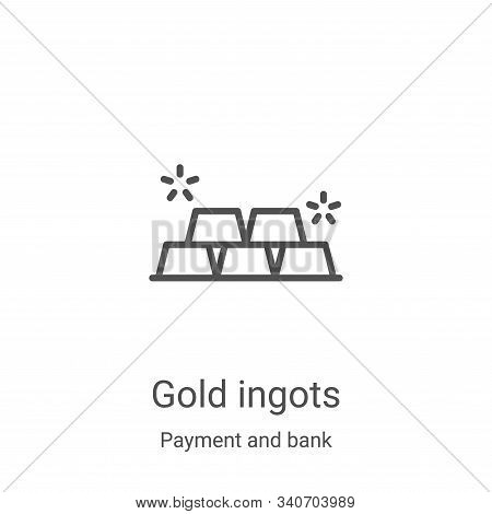 Gold Ingots icon isolated on white background from payment and bank collection. Gold Ingots icon tre