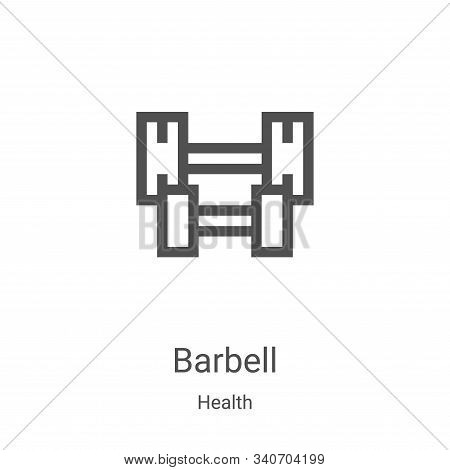 barbell icon isolated on white background from health collection. barbell icon trendy and modern bar