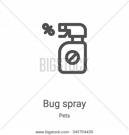 bug spray icon isolated on white background from pets collection. bug spray icon trendy and modern b