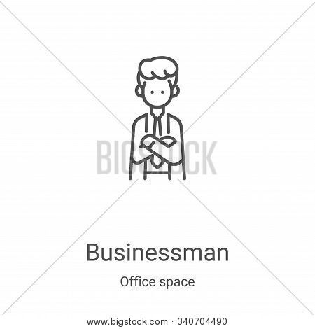 businessman icon isolated on white background from office space collection. businessman icon trendy