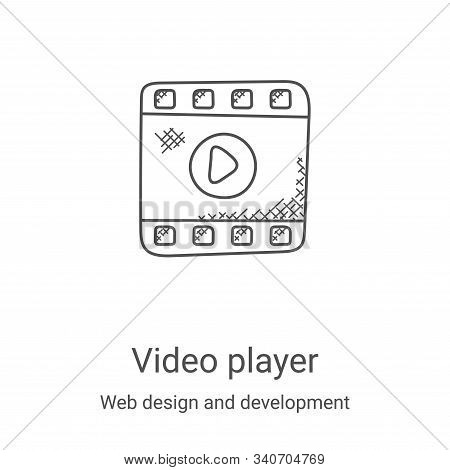 video player icon isolated on white background from web design and development collection. video pla