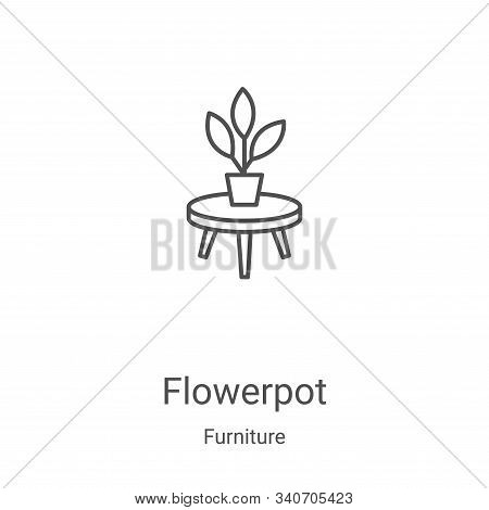 Flowerpot icon isolated on white background from furniture collection. Flowerpot icon trendy and mod