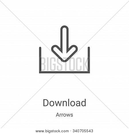download icon isolated on white background from arrows collection. download icon trendy and modern d