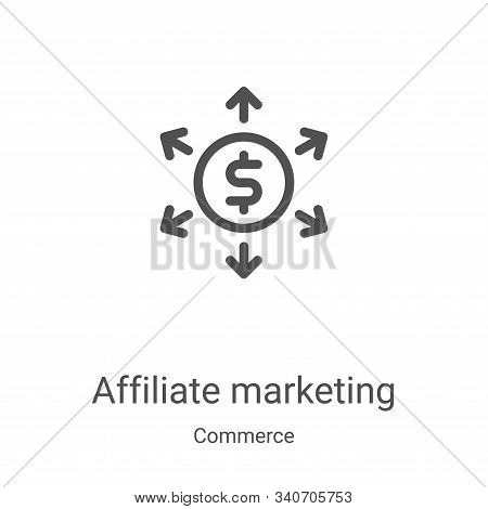 affiliate marketing icon isolated on white background from commerce collection. affiliate marketing