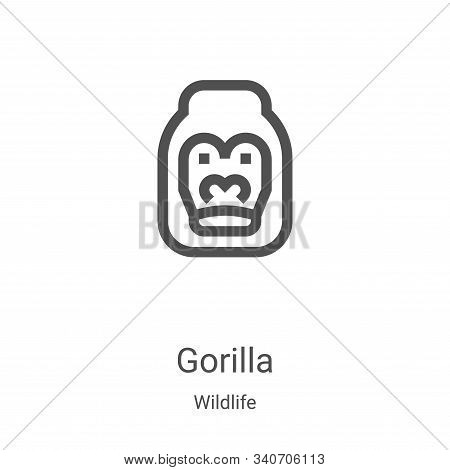 gorilla icon isolated on white background from wildlife collection. gorilla icon trendy and modern g