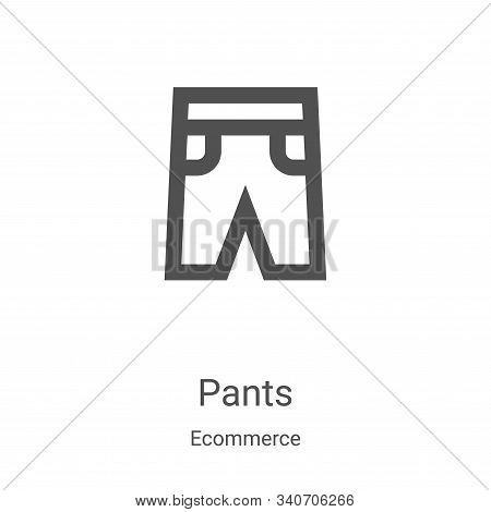 pants icon isolated on white background from ecommerce collection. pants icon trendy and modern pant
