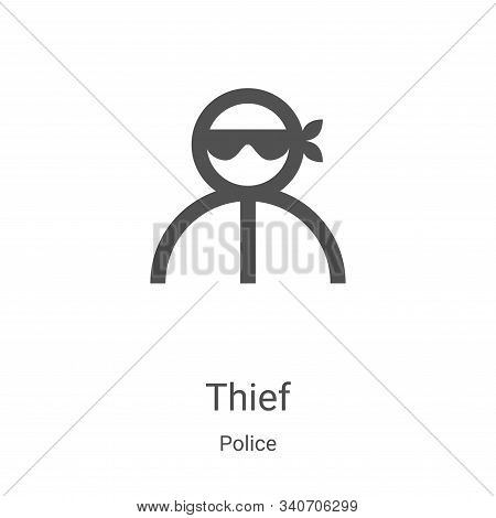 thief icon isolated on white background from police collection. thief icon trendy and modern thief s