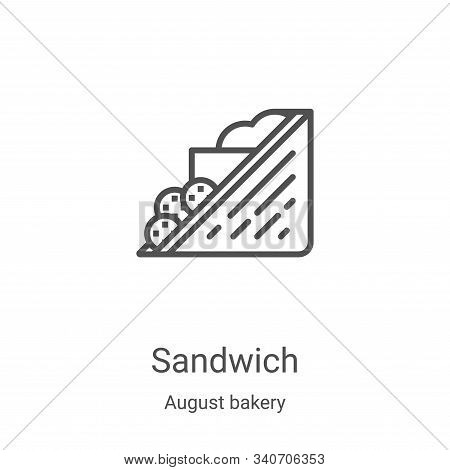 sandwich icon isolated on white background from august bakery collection. sandwich icon trendy and m