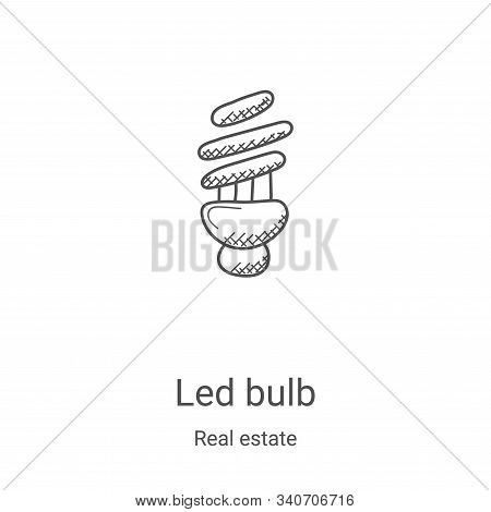 led bulb icon isolated on white background from real estate collection. led bulb icon trendy and mod