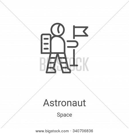 astronaut icon isolated on white background from space collection. astronaut icon trendy and modern