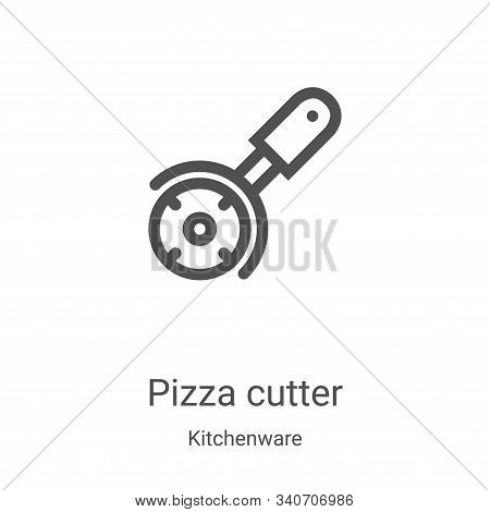 pizza cutter icon isolated on white background from kitchenware collection. pizza cutter icon trendy