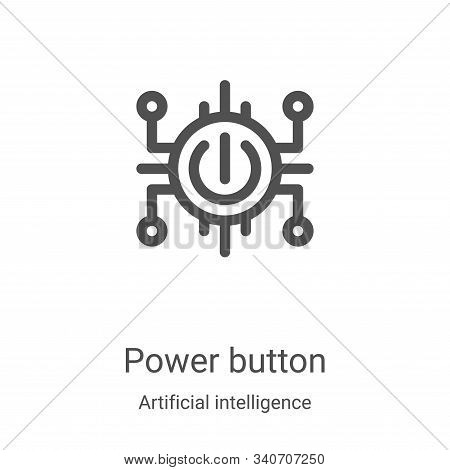 power button icon isolated on white background from artificial intelligence collection. power button