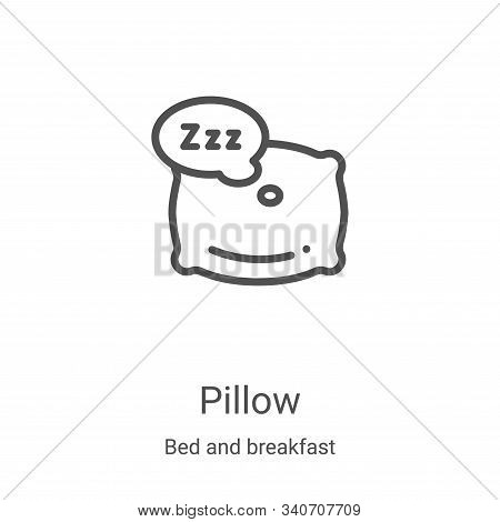 pillow icon isolated on white background from bed and breakfast collection. pillow icon trendy and m