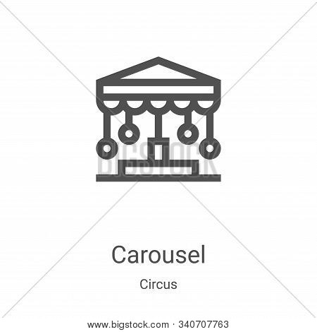 carousel icon isolated on white background from circus collection. carousel icon trendy and modern c