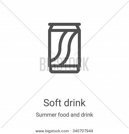 Soft drink icon isolated on white background from summer food and drink collection. Soft drink icon