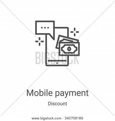 mobile payment icon isolated on white background from discount collection. mobile payment icon trend