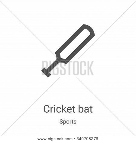 cricket bat icon isolated on white background from sports collection. cricket bat icon trendy and mo