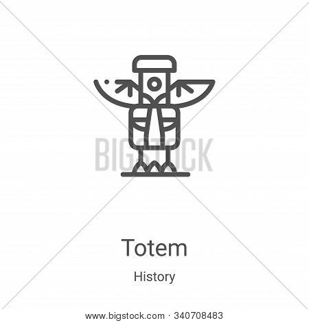 totem icon isolated on white background from history collection. totem icon trendy and modern totem