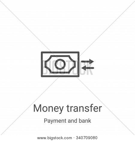 money transfer icon isolated on white background from payment and bank collection. money transfer ic