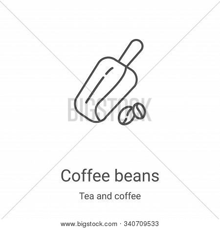 coffee beans icon isolated on white background from tea and coffee collection. coffee beans icon tre