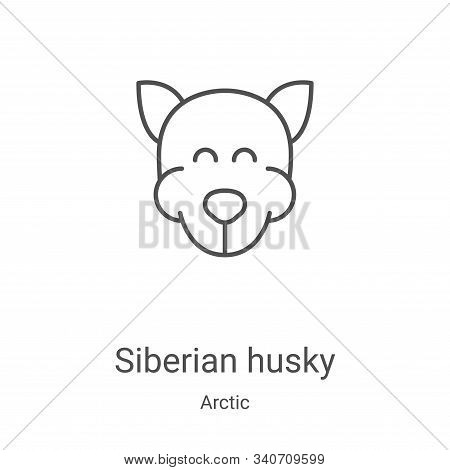 siberian husky icon isolated on white background from arctic collection. siberian husky icon trendy