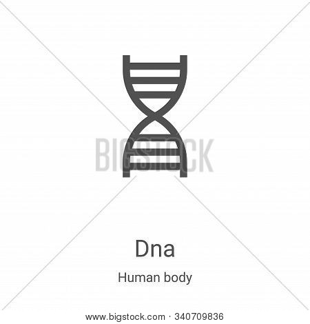 dna icon isolated on white background from human body collection. dna icon trendy and modern dna sym