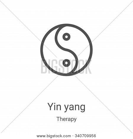 yin yang icon isolated on white background from therapy collection. yin yang icon trendy and modern