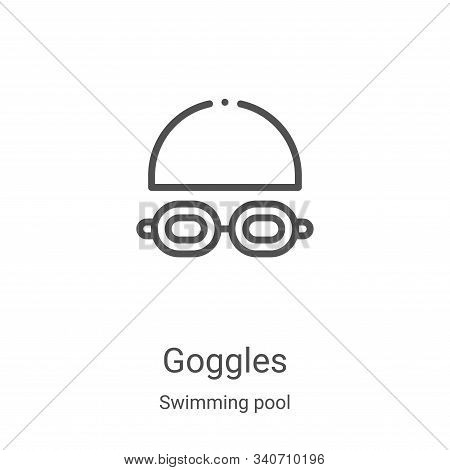 goggles icon isolated on white background from swimming pool collection. goggles icon trendy and mod