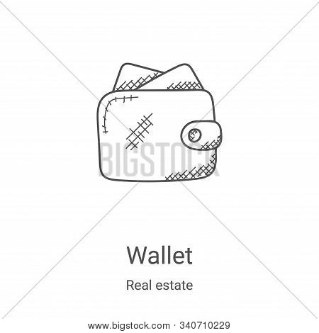 wallet icon isolated on white background from real estate collection. wallet icon trendy and modern