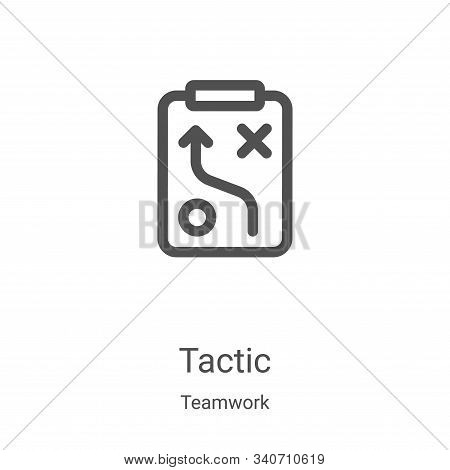 tactic icon isolated on white background from teamwork collection. tactic icon trendy and modern tac