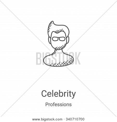 celebrity icon isolated on white background from professions collection. celebrity icon trendy and m